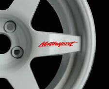 Motorsport 8 x logo decal graphics stickers alloy wheels JDM for Ford wheels
