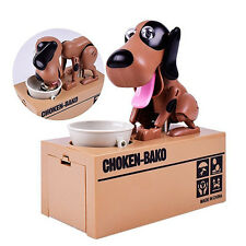 Puppy Hungry Eating Dog Coin Bank Save Money Saving Box