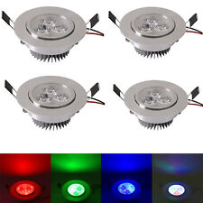 4x 5W RGB LED Ceiling Light Recessed Multicolor IR Remote Control Wireless Lamp