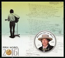 MALI 2016 NOBEL PRIZE WINNERS LITERATURE BOB DYLAN  SOUVENIR SHEET MINT NH
