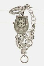 Western Charm Bracelet Cowgirl Bling Watch Horse Shoe Boot Jewelry New