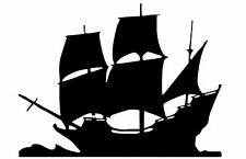 CUT VINYL WALL / CAR DECAL / STICKER, SHIP UNDER SAIL STYLE 1 BOAT PIRATE