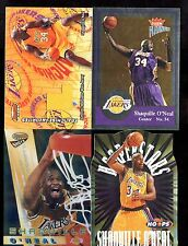 LOT (4)  RARE SHAQUILLE FRANCHISE FAVORITES PLATINUM ATOMIC REFRACTOR HOOP STARS