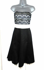 Stunning Warehouse Satin lace Strapless Evening Occasion Dress Size 12
