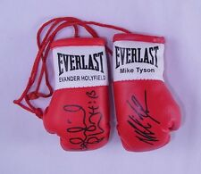 Autographed Mini Boxing Gloves Mike Tyson V Evander Holyfield