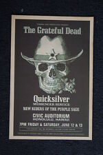 The Grateful Dead Poster 1970 Hawaii Civic Auditorium