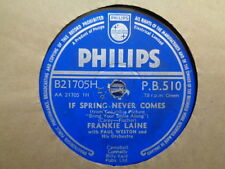 FRANKIE LAINE - If Spring Never Comes / Bring Your Smile Along 78 rpm disc