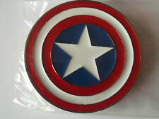 CAPTAIN AMERICA MARVEL COMICS ENAMELLED STAR BELT BUCKLE (takes 4cm wide belt)