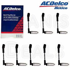 ACDelco GM Spark Plug Wire Set W/Heat Shields (8) For LS2 LS3 LS4 LS7 Engines