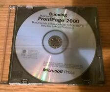 Microsoft Press Running Microsoft FrontPage 2000 097-0002268 (CD ONLY - No Key)