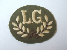 vintage light machine gun marksman L.G   trade cloth patch