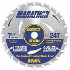 "NEW IRWIN LOT (10) 24030 MARATHON 7 1/4"" X 24 FRAME CARBIDE CIRCULAR SAW BLADES"