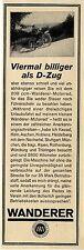 Wanderer Werke Schoenau Chemnitz ... billiger als der Zug 200 ccm-  Motorrad1928