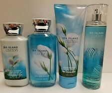 Sea Island Cotton Bath & Body Works FRAGRANCE MIST SPRAY LOTIONS Set Of 4!