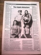 RED HOT CHILIS PEPPERS Mother's Milk review 1989 UK ARTICLE / clipping