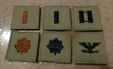 USAF,PATCH,  OFFICER AIR BATTLE UNIFORM RANK SET (6)  WITH VELCR