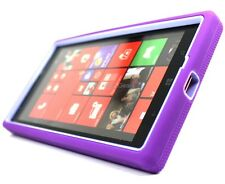 Purple Grey Tough Rugged Stand Hybrid Hard Soft Cover Case For Nokia Lumia 1520