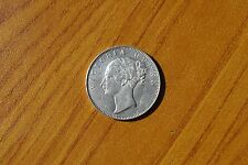 MONETA EAST INDIA COMPANY 1 RUPIA 1840 VICTORIA ARGENTO SUBALPINA Z