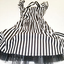 Striped Frilly Hot Topic Dress Juniors Size SM
