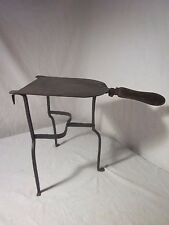 """Antique Primitive Fireplace Hand Wrought Iron Three Leg Warming Stand 12"""" tall"""