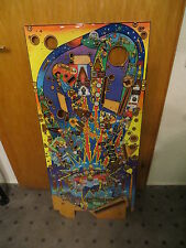 The Simpsons Pinball Party Pinball Machine Playfield NOS , clear coated in USA