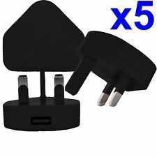 5 X 100% CE Usb Uk Enchufe de Pared de CA Cargador Adaptador para iPhone iPod Samsung HTC