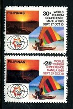 Philippines 1484-1485,MNH.Michel 1373-1374. Tourism Conference.Catamaran.1980.
