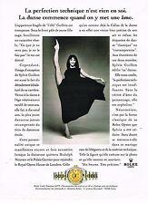 PUBLICITE ADVERTISING 074  1996  ROLEX  montre LADY DATEJUST   SYLVIE GUILLEM