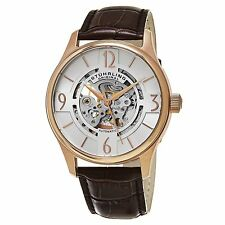 Stuhrling Original Men's 'Legacy' Automatic Stainless Steel and Brown Leather Dr