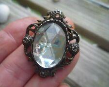 BEAUTIFUL VINTAGE DIAMOND BROOCH NICE ABOUT 1.25 INCH