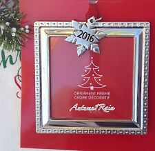 PICTURE PHOTO FRAME CHRISTMAS Tree ORNAMENT SILVER SQUARE 2016 SNOWFLAKE CHARM