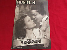MON FILM  Magazine  inc Gene TIERNEY Victure MATURE & Michele MORGAN  06/10/1948