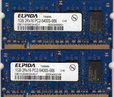 NEW 2GB 2x 1GB Kit Compaq Presario F500 / F700 DDR2 Laptop/Notebook RAM Memory