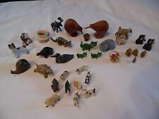 Animals Miniature Mixed Lot of 33 Pcs Dollhouse Dogs, Cats, Kiwi, Monkeys MORE