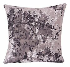 LUXURY CRUSHED THICK VELVET LAVENDER LILAC CUSHION COVER £6.49 EA  FREE POSTAGE