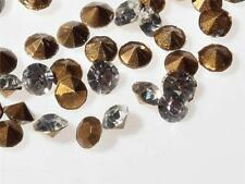 Lot (17g) 3mm ss12 Czech vintage faceted foil back crystal glass rhinestones