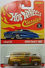 Hot Wheels Classics Series 1 1956 Ford F-100 4/25 (Gold Version)