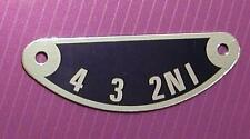 new metal GEAR INDICATOR PLATE 350/500cc-TRIUMPH 3TA 5TA T90 T100 pt no 57-1417