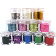 BF Nail Art Glitter Fine Acrylic Dust Powder with 12 Multi Shiny Colours #422
