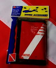 Dive Flag wallet inovative scuba trifold Christmas Gift Stocking stuffer fun