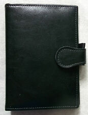 REAL LEATHER POCKET SIZE FILE LONDON ORGANISER COMPANY WALLET DIARY CARDS NEW