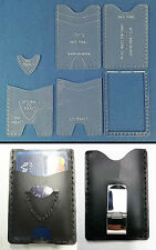 3 CARD WALLET TEMPLATE SET - PRECISION LASER CUT - FOR LEATHER CRAFTERS  - SMTS