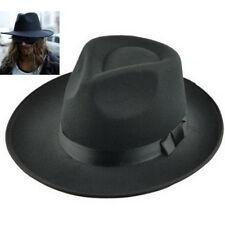 FD3933 Men's Vintage Retro Genuine Wool Felt Wide Brim Fedora Pork Pie Hat Cap