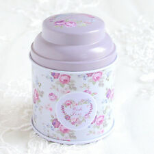 Flower Metal Iron Tin Can Storage Tea Candy Coin Jewelry Gift Box Trinket Case