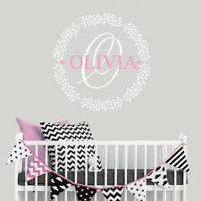 Personalised Girl Children Nursery Bedroom Name Wall Sticker Wall Decal Princess