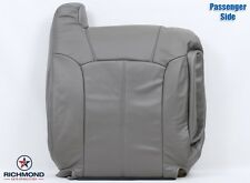 2002 Escalade PASSENGER Lean Back PERFORATED Replacement Leather Seat Cover Gray