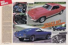1969 FORD MUSTANG CJ MACH 1 & CJ GT COUPE  ~  NICE 2-PAGE ARTICLE / AD