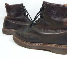 Dr. Martens Doc Women's Size 8.5 ~ Brown Leather Combat Boots MADE IN ENGLAND!
