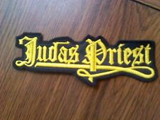 JUDAS PRIEST,SEW ON YELLOW EMBROIDERED PATCH