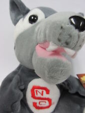 """Mr Wolf"" North Carolina State University Bean Bag Mascot Soft Fabric Sculpture"